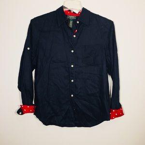 Lauren Ralph Lauren Linen Button Down blouse Large